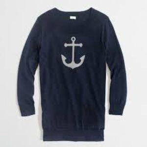 J. Crew Navy Anchor Sweater